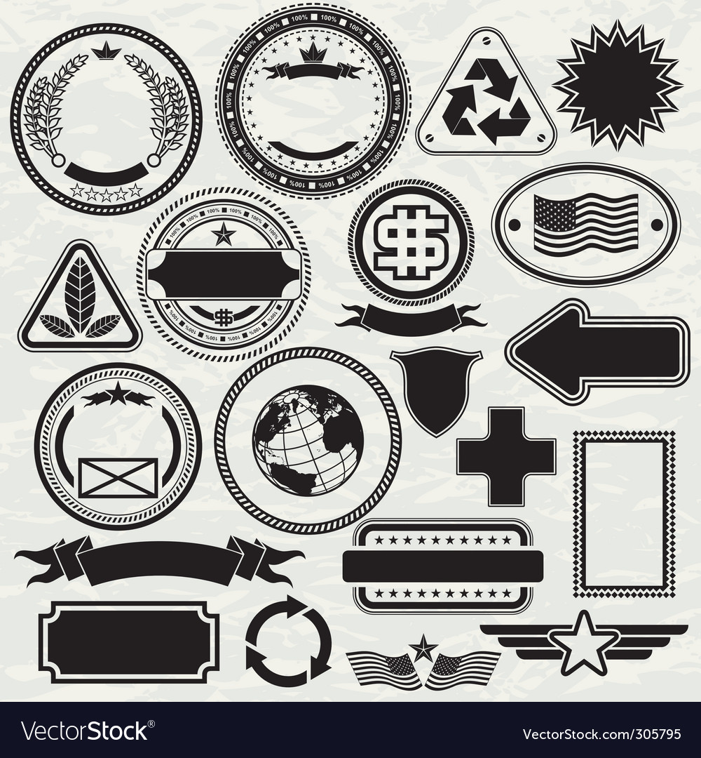 Stamps templates vector