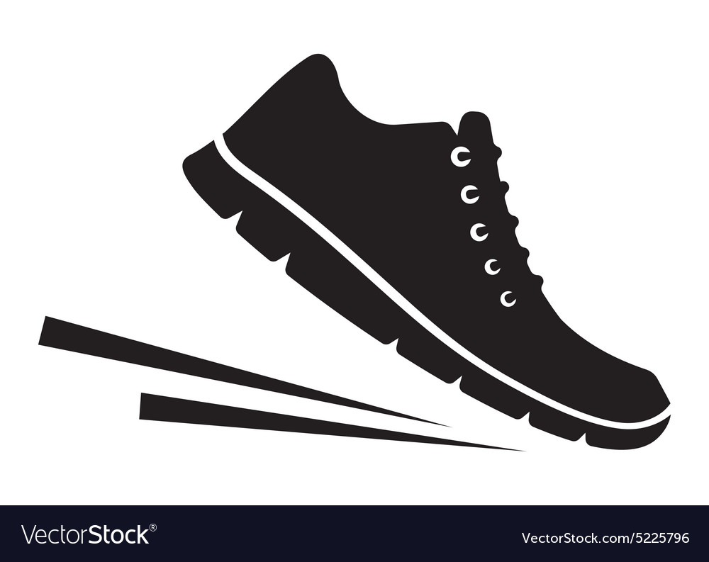 Running shoes icon2 vector