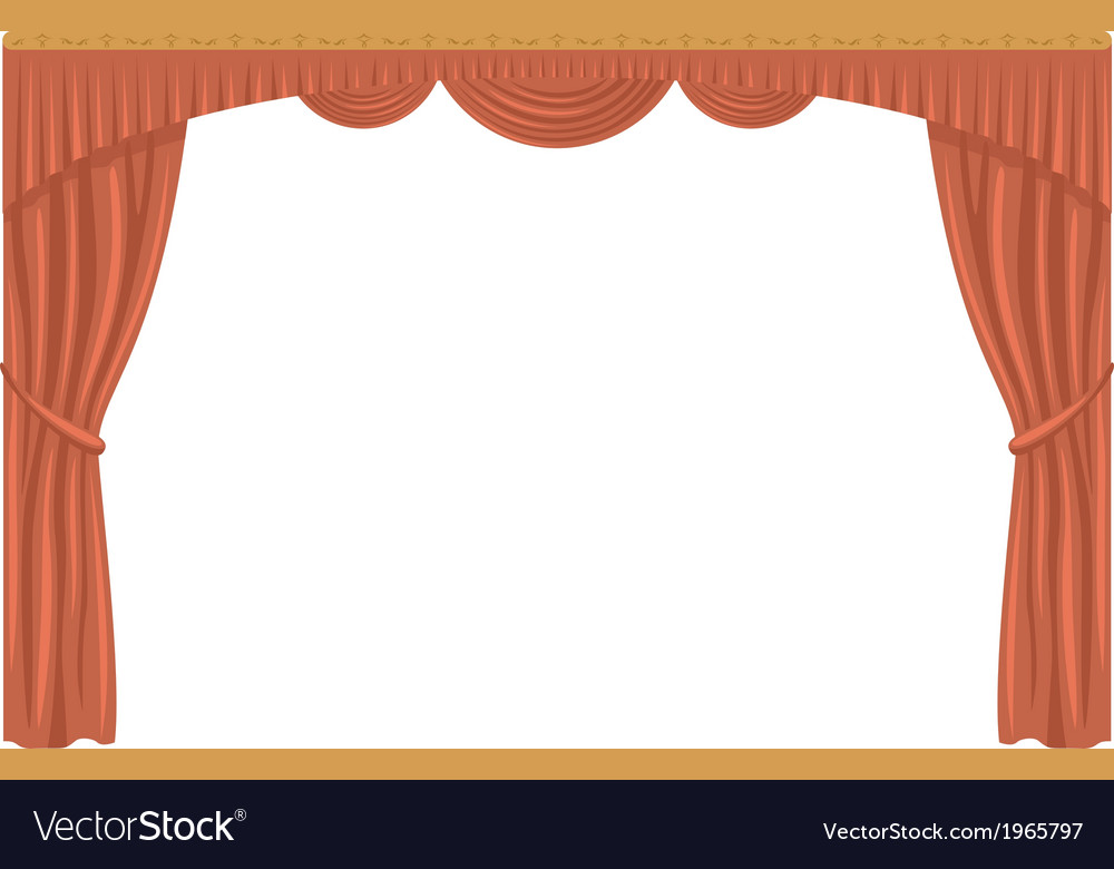 Curtain isolated vector