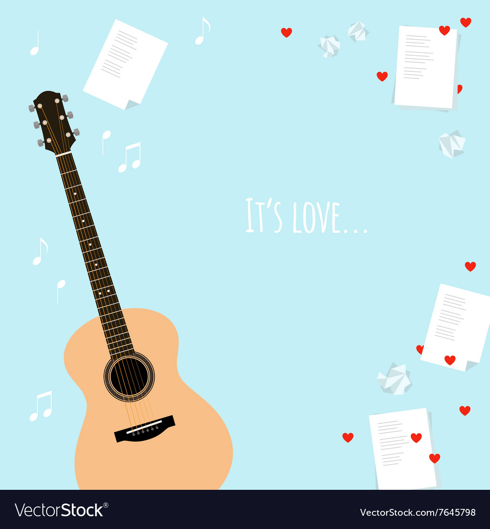 Valentines day template cards with serenade vector