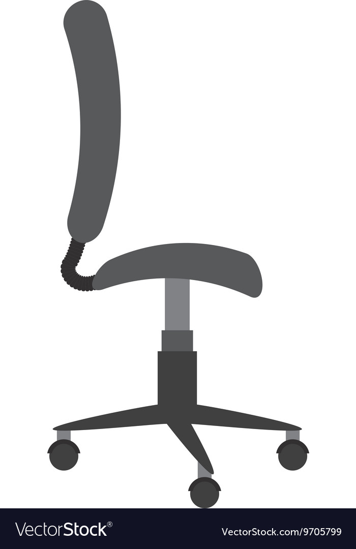 Office chair isolated icon design vector
