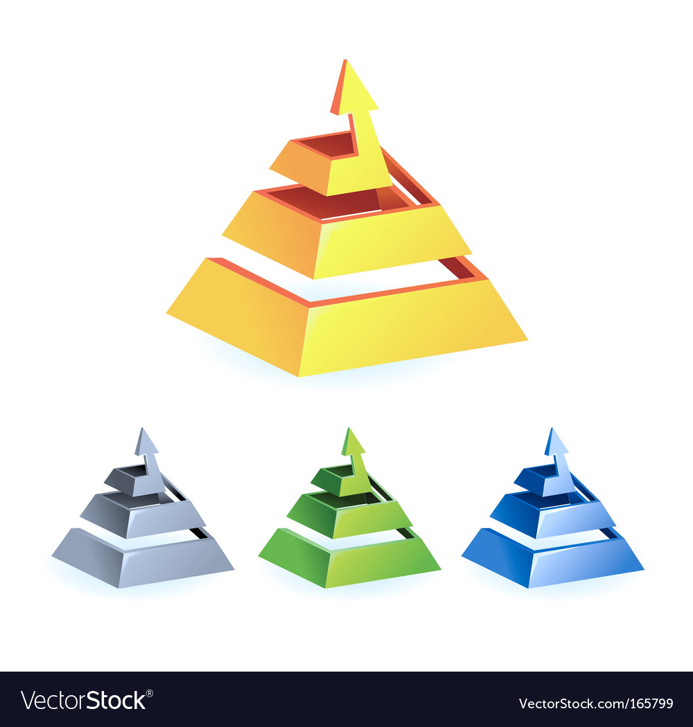 Pyramid arrow vector