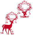 deer with blank frames vector image vector image