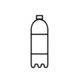 Bottle outline digital icon vector image