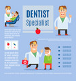 Dentist specialist infographic design vector image