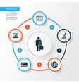 Trade icons set collection of increasing work vector image
