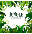 jungle tropical leaves background vector image
