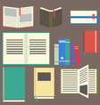Flat design book vector image