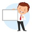 Man holding whiteboard vector image