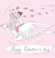 valentine bird riders vector image