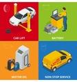 Car repair concept Tire service meter Auto vector image