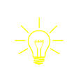bulb yellow save vector image