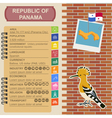 Panama infographics statistical data sights vector image
