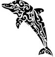 Dolphin tribal tattoo vector image