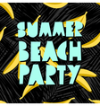 Summer Beach Party Design vector image