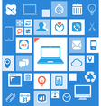 Abstract icon interface template vector image