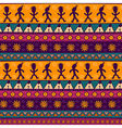 Colorful aztec seamless pattern vector image