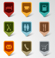 Colorful set web retro pointers for service vector image