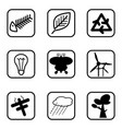 ecology icons and environment icons with white vector image