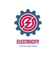 Electricity - logo concept vector image