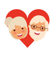 happy grandparents portrait old lovely couple in vector image