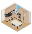 isometric kitchen interior vector image