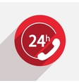 modern support red circle icon vector image