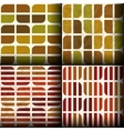 seamless patterns with autumn colours vector image