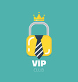 VIP club logo in flat style VIP Club members only vector image