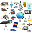 Science Elements Cartoon Set vector image