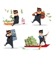 Set of Money Stealing Concepts Flat Design vector image