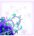 Floral violet on grunge background vector image