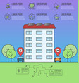 ecology concept with eco friendly house cars vector image