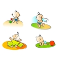 Funny childs vector image