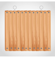 wooden square board with grommets for hanging vector image