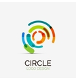 Hi-tech circle company logo business concept vector image