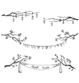 Doodle tree branches vector image