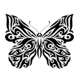 Butterfly in tribal design vector image