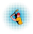 Baseball player icon comics style vector image