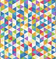 Abstract background of color triangles seamless vector image vector image