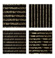 Black and Gold Seamless Pattern vector image