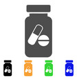 medication vial flat icon vector image