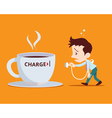 office man need to charge vector image