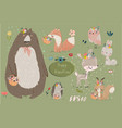 set with cute animals vector image