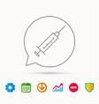 syringe icon injection or vaccine instrument vector image