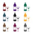 vermouth icon in black style isolated on white vector image