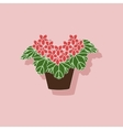 paper sticker on stylish background plant vector image