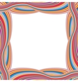 Retro Striped Frame with Colored Stripes vector image