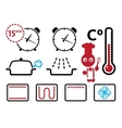 Oven settings and modes signs icons set vector image