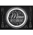Menu Restaurant chalk vector image vector image
